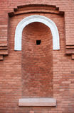 Architectural niche in the brick Old Red wall Royalty Free Stock Photos