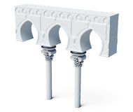 Architectural objects columns arches  on white backgr Royalty Free Stock Photography