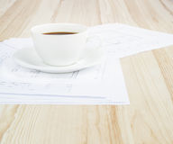 Architectural office desk. Stock Images
