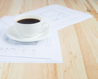 Architectural office desk. Royalty Free Stock Images