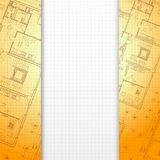 Architectural orange background. Stock Photo
