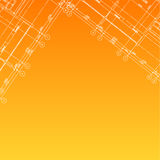 Architectural orange background Stock Photography