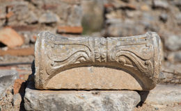 Architectural Order in Ephesus Ancient City Stock Images