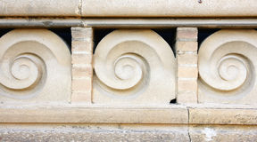 Architectural ornamental detail of a building of the hospital complex of Santa Cruz and San Pablo Stock Images