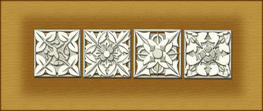 Architectural ornamentation. A tile design of architectural ornamentals Royalty Free Stock Photos