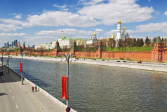 Architectural panorama of Moscow sunny day Stock Images