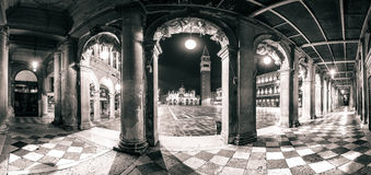 Architectural panorama of Piazza San Marco and arches, Venice Royalty Free Stock Photos