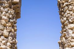 Architectural part of ancient fortress Royalty Free Stock Photos