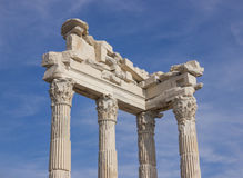 Architectural parts temple of Trajan Stock Image