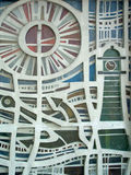 Architectural Pattern Detail. An image of a pattern on a building taken in Barcelona 2005 royalty free stock photos