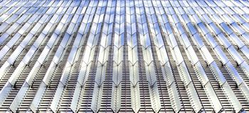 Architectural pattern with glass. Architectural detail with patterned glass windows royalty free stock photo
