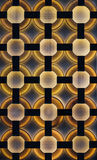 Architectural pattern illuminated. Stock Images