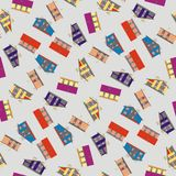 Architectural Pattern Seamless Royalty Free Stock Images