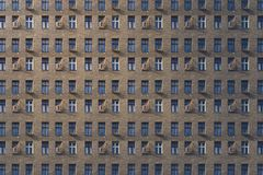 Window facade of an old miserable house. Architectural pattern, window facade of an old miserable house stock image