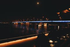Architectural Photography of Bridge during Nighttime stock photos