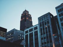 Architectural Photography of Gray and Black High Rise Building during Sunset Stock Photography