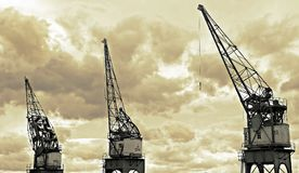 Architectural Photography of White and Black Metal Crane Stock Image