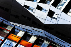 Architectural picture detail abstract hourglass shaped. Abstract picture of a architectural interesting building in the city of Rotterdam, hourglass shape Royalty Free Stock Photography