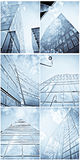 Architectural pictures collage stock photos
