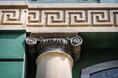 Architectural pillar in the Greek style Royalty Free Stock Images