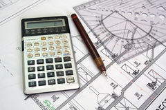 Architectural plan Royalty Free Stock Photos
