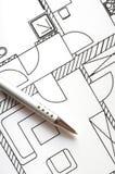 Architectural plan Royalty Free Stock Photos