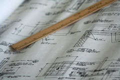 Architectural plan. An engineering and architectural plan Stock Photo