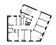 Architectural plan. Of the old house build around 1920 Stock Photo