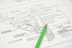 Free Architectural Plan Royalty Free Stock Photos - 338778