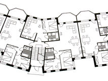 Architectural plan Stock Photo