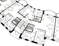 Architectural plan Royalty Free Stock Photography