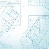 Architectural plan background Royalty Free Stock Photo