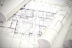 Architectural plan Royalty Free Stock Photo