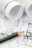 Architectural plan Royalty Free Stock Images