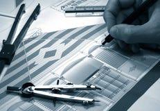 Architectural plan Stock Image