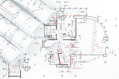 Architectural plan Stock Photography
