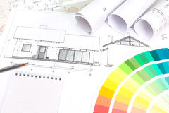 Architectural planning Royalty Free Stock Images