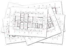 Architectural plans Royalty Free Stock Image