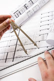 Architectural plans Royalty Free Stock Photo