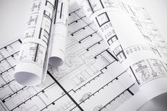 Free Architectural Plans Stock Photography - 13776222