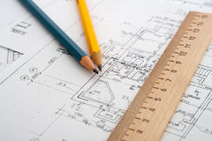 Free Architectural Plans Stock Images - 14703464