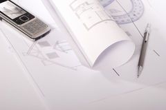 Architectural plans Royalty Free Stock Images