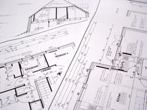 Architectural plans stock photos