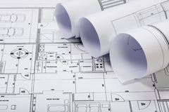 Architectural plans Stock Photography