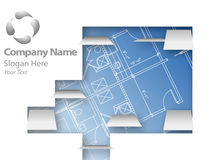 Architectural plans logo Royalty Free Stock Photos