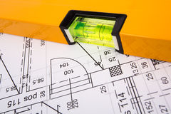 Architectural plans Stock Image