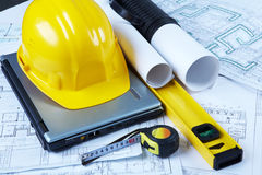 Architectural project Royalty Free Stock Photo