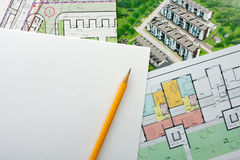 Architectural project Royalty Free Stock Image