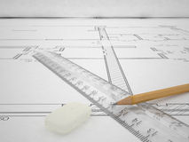 Architectural Project Royalty Free Stock Images