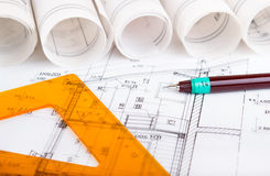 Architectural project Royalty Free Stock Photography